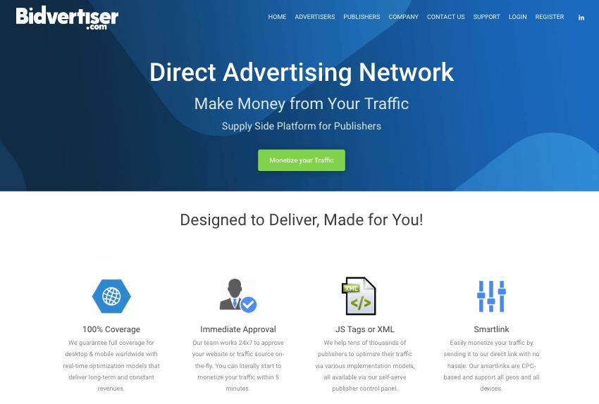 Bidvertiser : Earn $$$ Good Adsense Alternative CPC/CPM, CPA ad network Targeted Ads for Sites