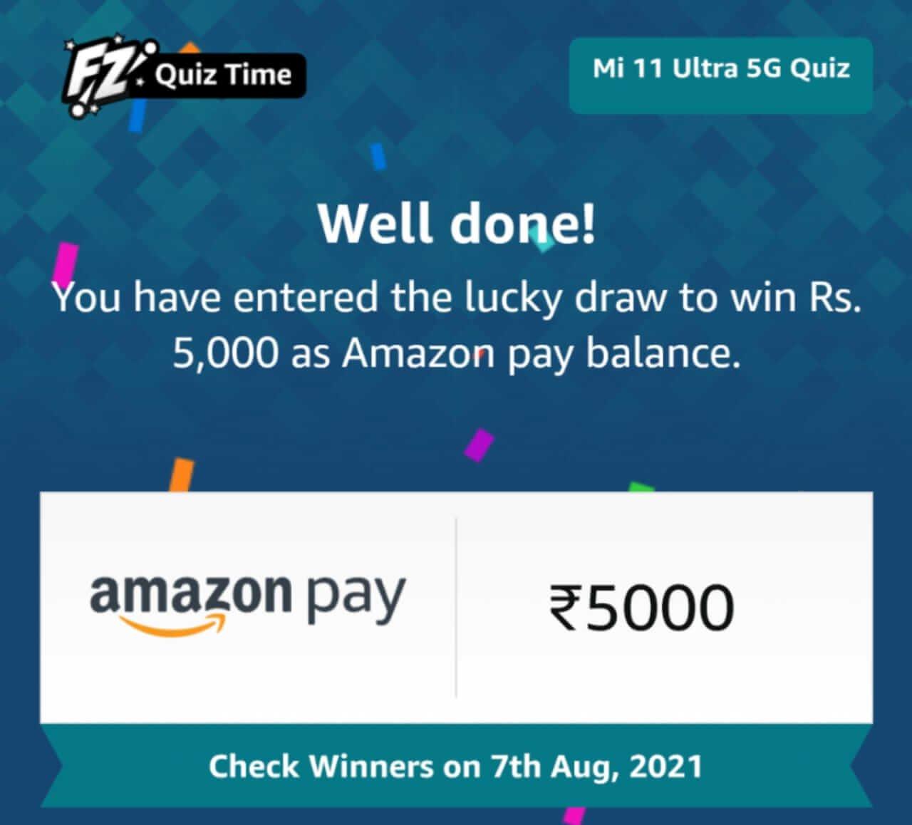 Amazon Mi Quiz - AmazonMi 11 Ultra 5GQuiz